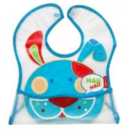BOBO BABY Detská zásterka Psík - modrý