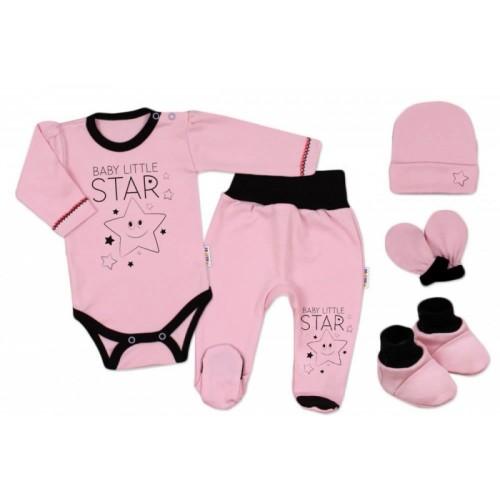 Baby Nellys Súpravička do pôrodnice Baby Little Star - ružová, veľ. 62, K19