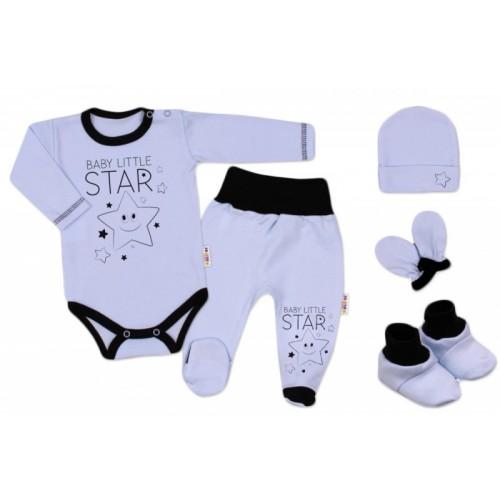 Baby Nellys Súpravička do pôrodnice Baby Little Star - modrá, veľ. 62, K19
