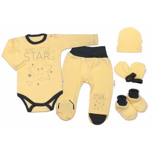 Baby Nellys Súpravička do pôrodnice Baby Little Star - žltá, veľ.  62, K19